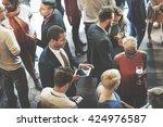 diversity friends meeting... | Shutterstock . vector #424976587