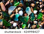 Glass Beach. Natural Texture...
