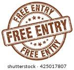 Free Entry Brown Grunge Round...