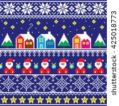 christmas jumper or sweater... | Shutterstock .eps vector #425018773