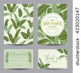 wedding invitation card.... | Shutterstock .eps vector #425020147