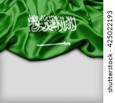 saudi arabia abstract flag and... | Shutterstock . vector #425022193