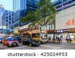 hong kong   may 22  neon lights ... | Shutterstock . vector #425024953