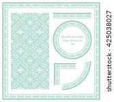 vintage frame pattern set 320... | Shutterstock .eps vector #425038027
