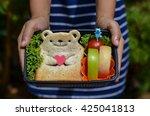 Cute Bear Toast With Apples ...