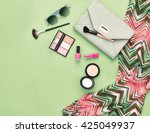 fashion. summer woman... | Shutterstock . vector #425049937