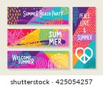 set of colorful summer designs  ... | Shutterstock .eps vector #425054257