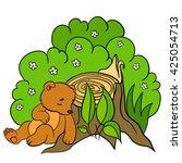 cartoon animals for kids.... | Shutterstock .eps vector #425054713