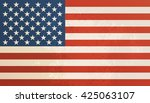 american flag vintage textured... | Shutterstock . vector #425063107