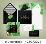 trendy tropical  jungle style... | Shutterstock .eps vector #425073223
