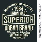 vintage typography  t shirt... | Shutterstock .eps vector #425073337