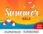 vector summer sale banner   Shutterstock .eps vector #425083483