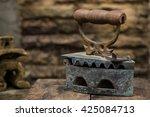 Vintage Iron On Stone Wall...