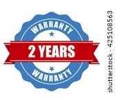 two years warranty seal   round ... | Shutterstock .eps vector #425108563