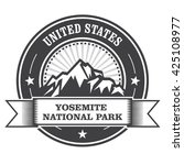 yosemite national park round... | Shutterstock .eps vector #425108977