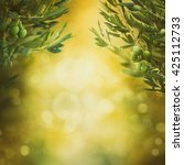 olives background. olives on... | Shutterstock . vector #425112733