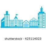 cityscape  building design   Shutterstock .eps vector #425114023