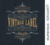 vintage typographic label... | Shutterstock .eps vector #425116477