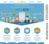 hotel service web page design... | Shutterstock .eps vector #425122003
