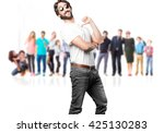 young man funny expression | Shutterstock . vector #425130283