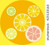 abstract citrus background | Shutterstock .eps vector #425133163