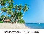 summer nature scene. tropical... | Shutterstock . vector #425136307