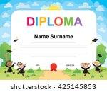 kids diploma certificate...   Shutterstock .eps vector #425145853