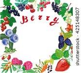 berry background  stock vector...   Shutterstock .eps vector #425148307