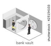 isometric interior of bank vault | Shutterstock . vector #425154103