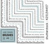 vector hand drawn striped... | Shutterstock .eps vector #425154457
