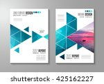 brochure template  flyer design ... | Shutterstock .eps vector #425162227