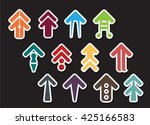 colorful of arrow vector...