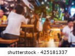 blur image of crowded traveler... | Shutterstock . vector #425181337