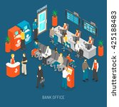 Bank Office Concept With...