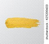 vector gold paint smear stroke... | Shutterstock .eps vector #425200603