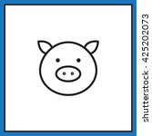 pig icon | Shutterstock .eps vector #425202073