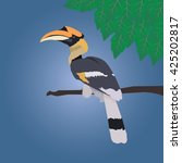 Great Hornbill Stand On The...