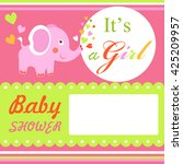 baby shower colorful card...   Shutterstock . vector #425209957
