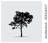 vector tree silhouettes | Shutterstock .eps vector #425226217