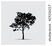 vector tree silhouettes | Shutterstock .eps vector #425226217