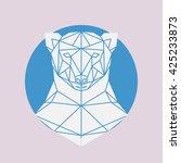 Polar Bear Head Geometric Line...