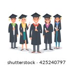 group of graduating students... | Shutterstock .eps vector #425240797