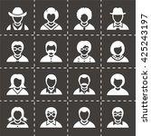 vector people icon set | Shutterstock .eps vector #425243197
