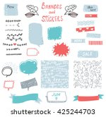banner and stickers set for the ...   Shutterstock .eps vector #425244703