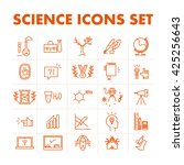 vector science icon set... | Shutterstock .eps vector #425256643