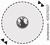 globe icon flat design.... | Shutterstock .eps vector #425270227