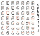 paper icon  document icon...   Shutterstock .eps vector #425272813