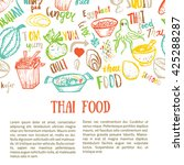 Thai Food Hand Drawn Banner...