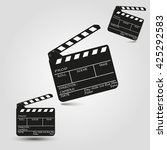 movie clapper board set | Shutterstock .eps vector #425292583