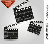 movie clapper board set | Shutterstock .eps vector #425292613